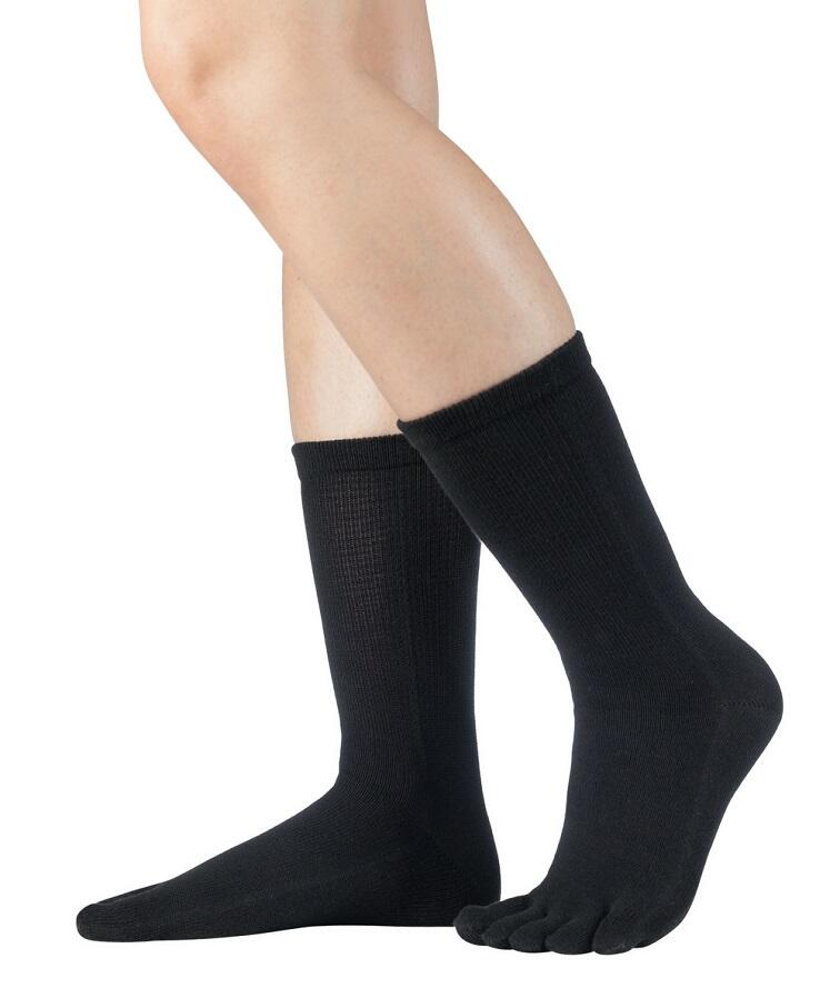 Knitido Essentials basic Wadenlange Zehensocken schwarz
