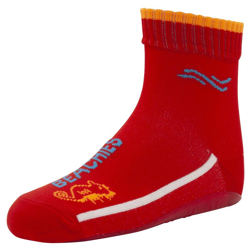 BEACHIES Kinder Wattsocken / Aquasocken  – Seepferdchen-rot