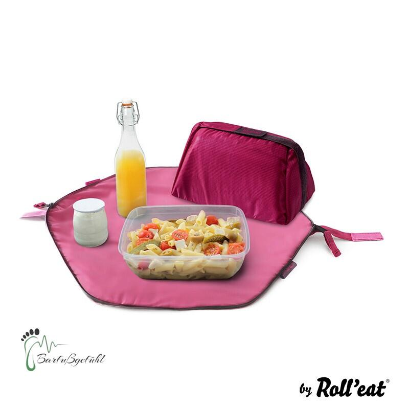 Roll′eat - Eat′n′out Mini Eco Lunchbag, 1.25l rot lila