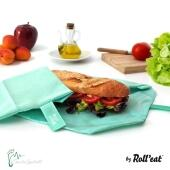 Roll'eat nachhaltige Pausenbrot-Verpackung - mint