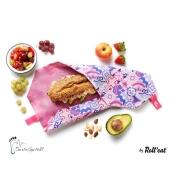 Roll'eat nachhaltige Pausenbrot-Verpackung - Patchwork-lila