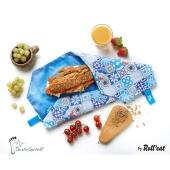 Roll'eat nachhaltige Pausenbrot-Verpackung - Patchwork-blue
