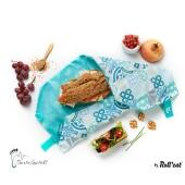 Roll'eat nachhaltige Pausenbrot-Verpackung - Patchwork-green