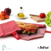 Roll'eat nachhaltige Pausenbrot-Verpackung - red