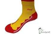 BEACHIES Wattsocken / Aquasocken – gelb-rot